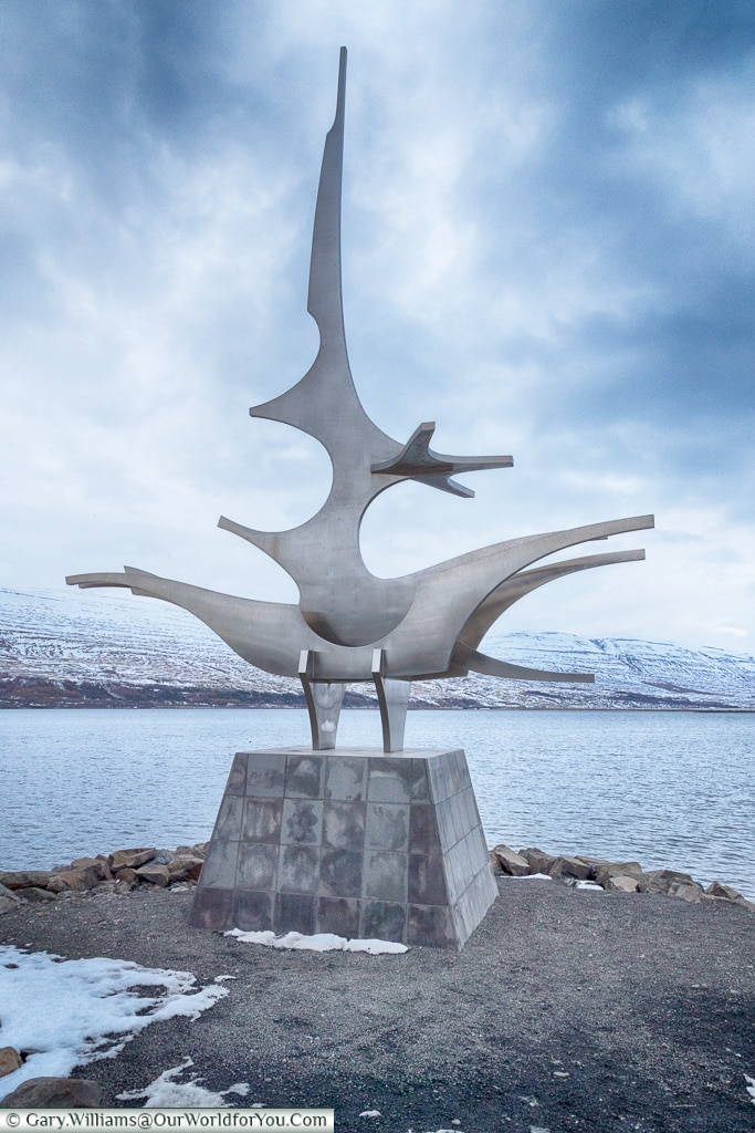 The Sigling sculpture at Akureyri, Iceland