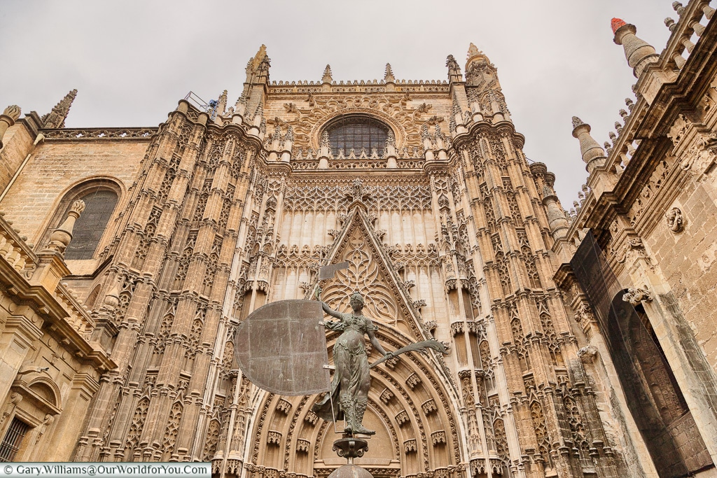 The entrance to the Cathedral, Seville Cathedral, Seville, Spain
