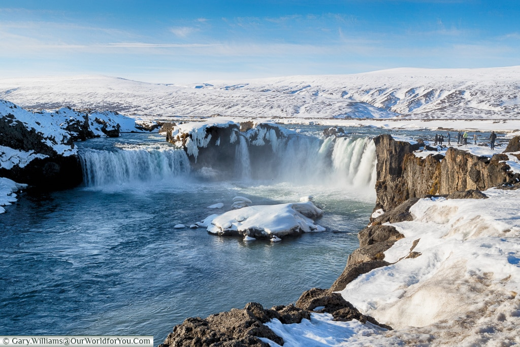 The full force of Goðafoss, Iceland