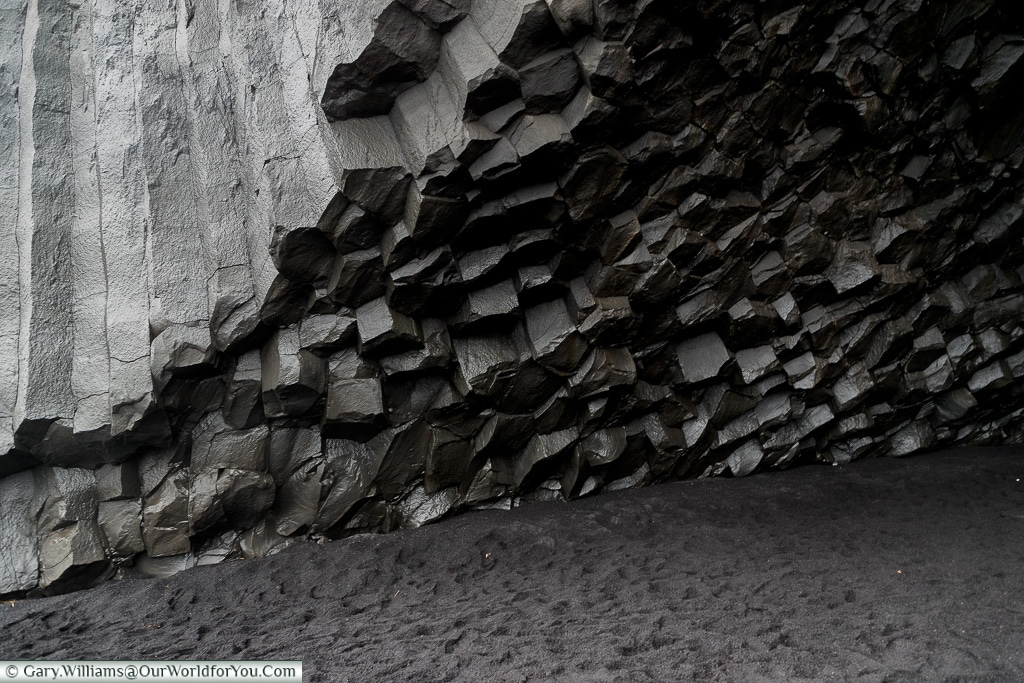 The rock formation at Reynisfjara Beach, Iceland