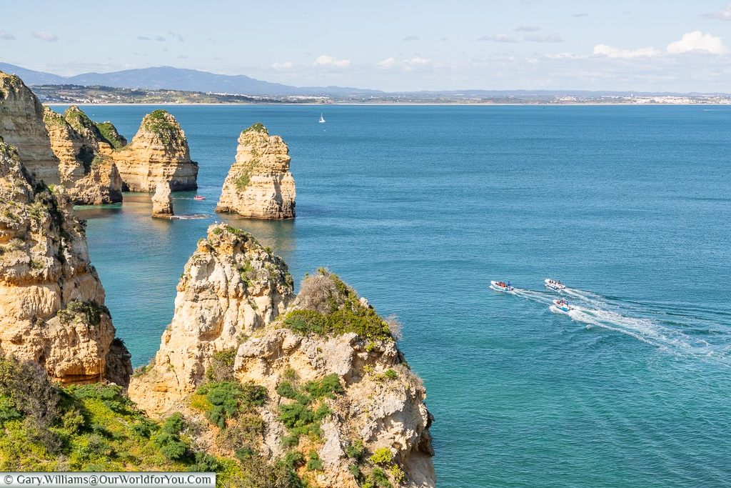 The magnificent coastline of the Algarve, Portugal