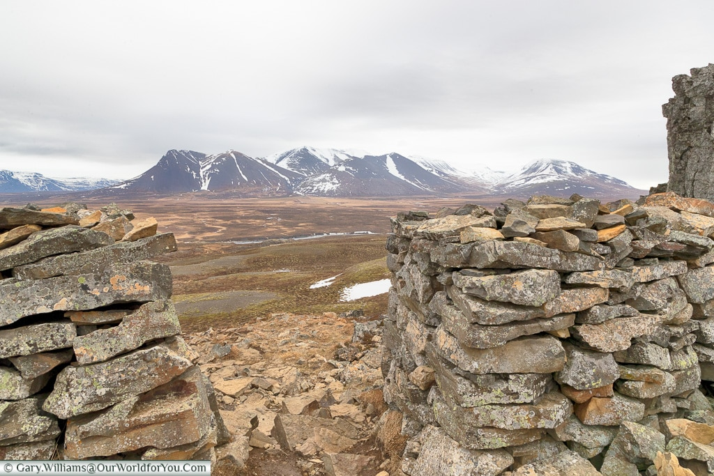 The view from Borgarvirki, Iceland