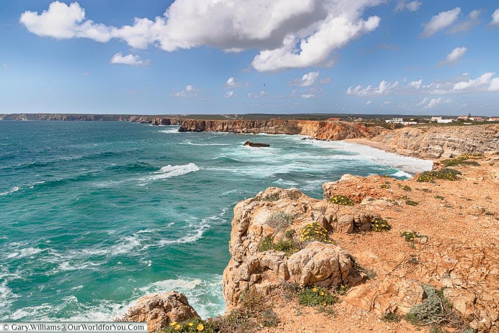 The coastline of Sagres, Argarve,  Portugal