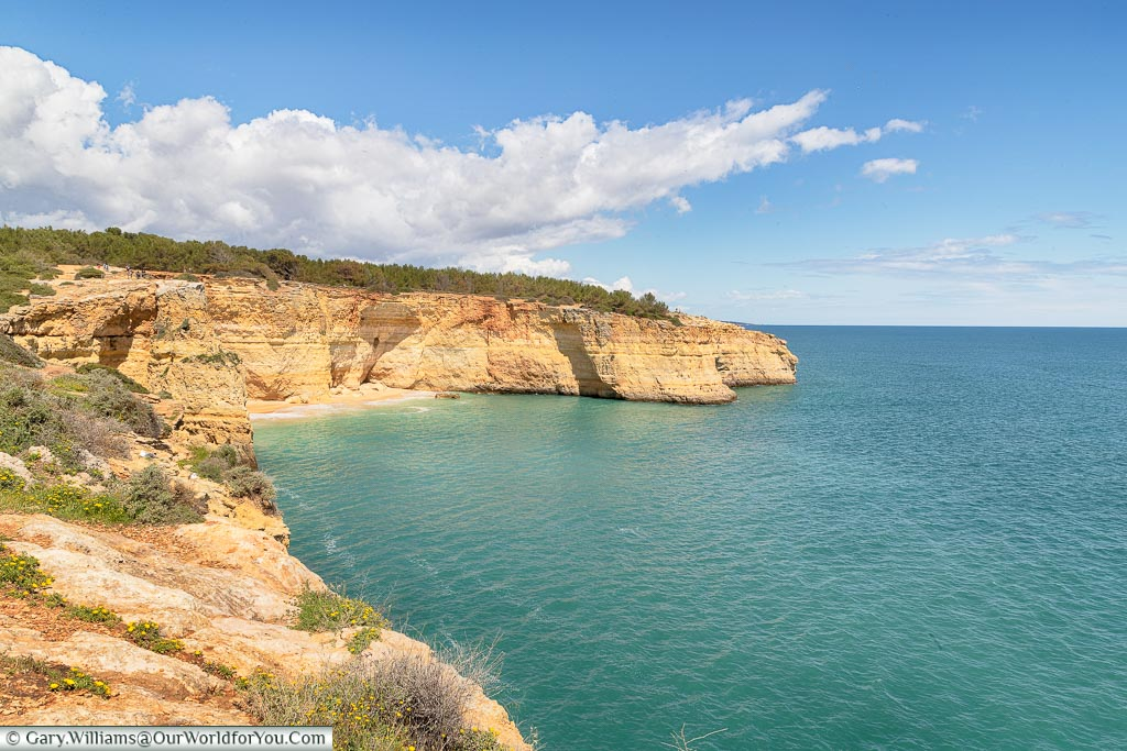 The coastline of the Algarve, Portugal