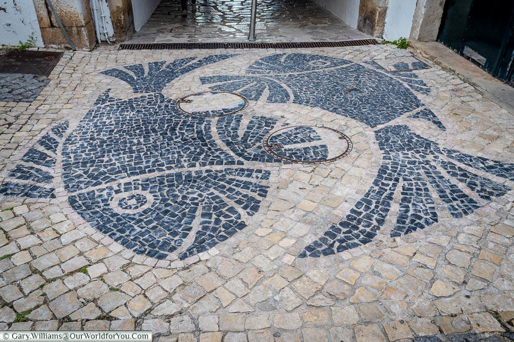 The fish tiling,Lagos, Algarve, Portugal