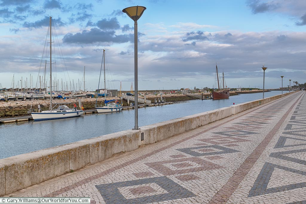 The tiled promenade of Lagos, Algarve,  Portugal