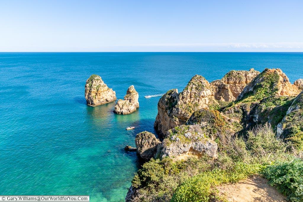 The view off Ponta da Piedade, Algarve, Portugal
