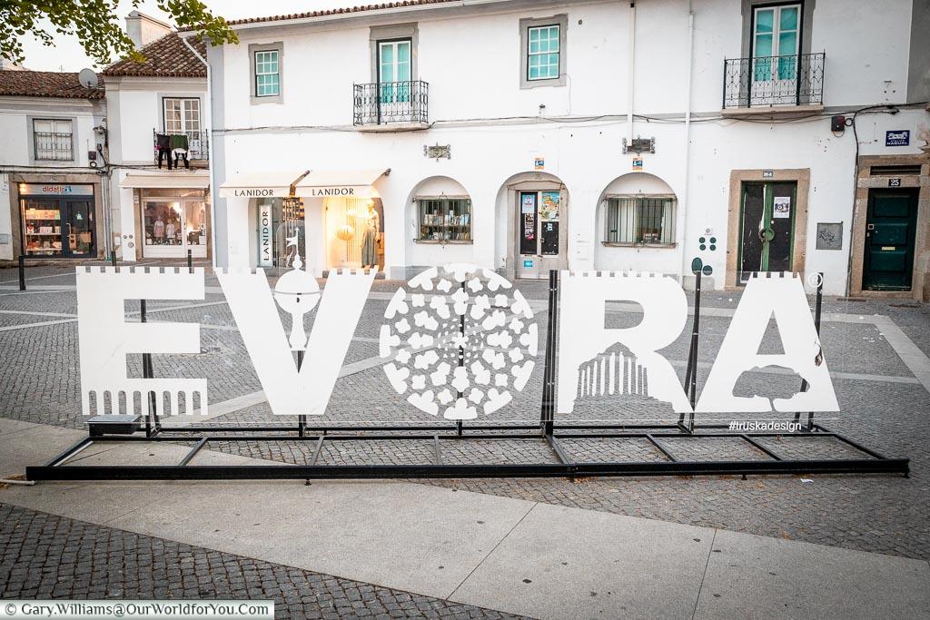 Évora - the sign, Évora, Portugal
