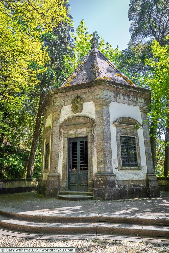 A chapel on the Sacred Way, Bom Jesus do Monte, Portugal