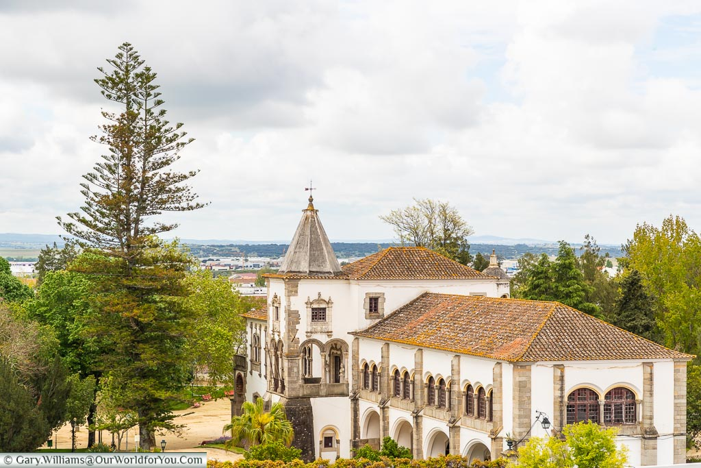 A view over  the Dom Manuel Palace from the San Francisco church, Évora, Portugal