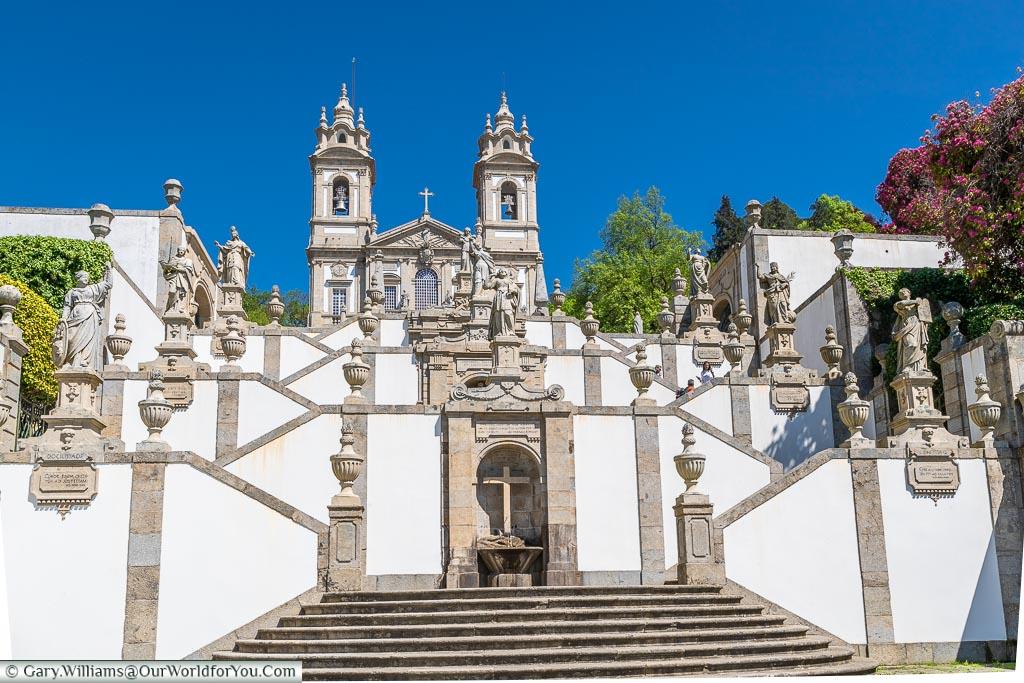 A view up towards Bom Jesus do Monte, Portugal