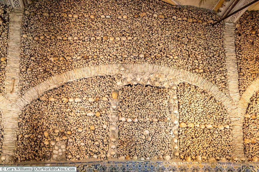 A wall of bones, Évora, Portugal