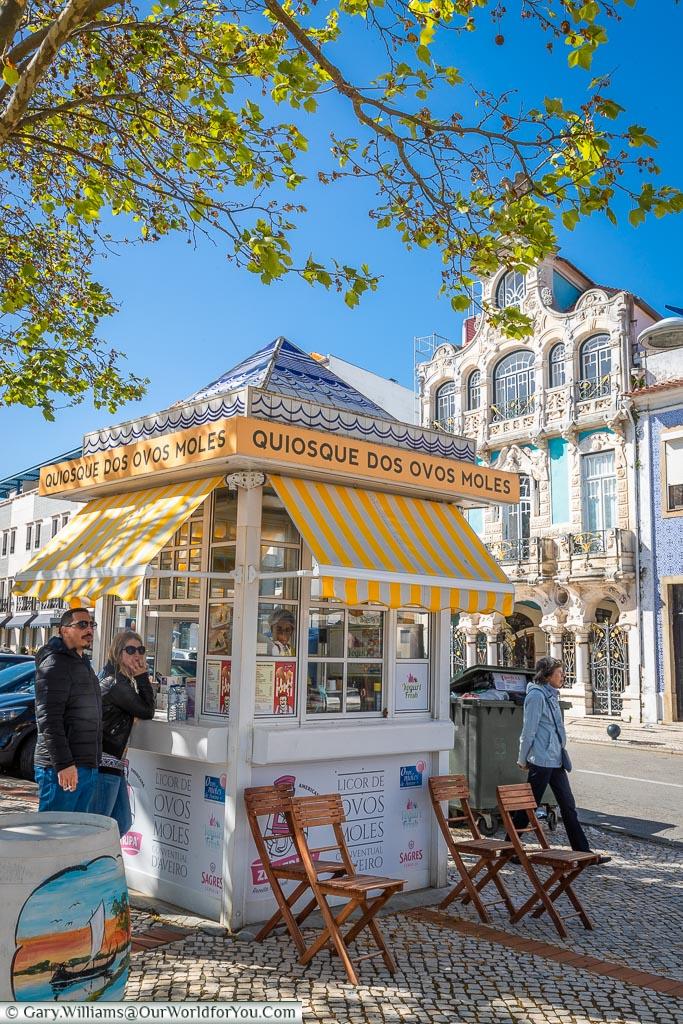 An Ovos Moles stall, Aveiro, Portugal