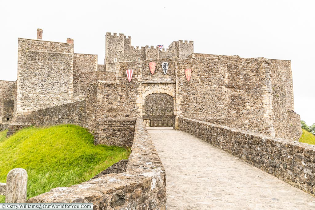 An approach to the Castle, Dover Castle, Dover, Kent, England