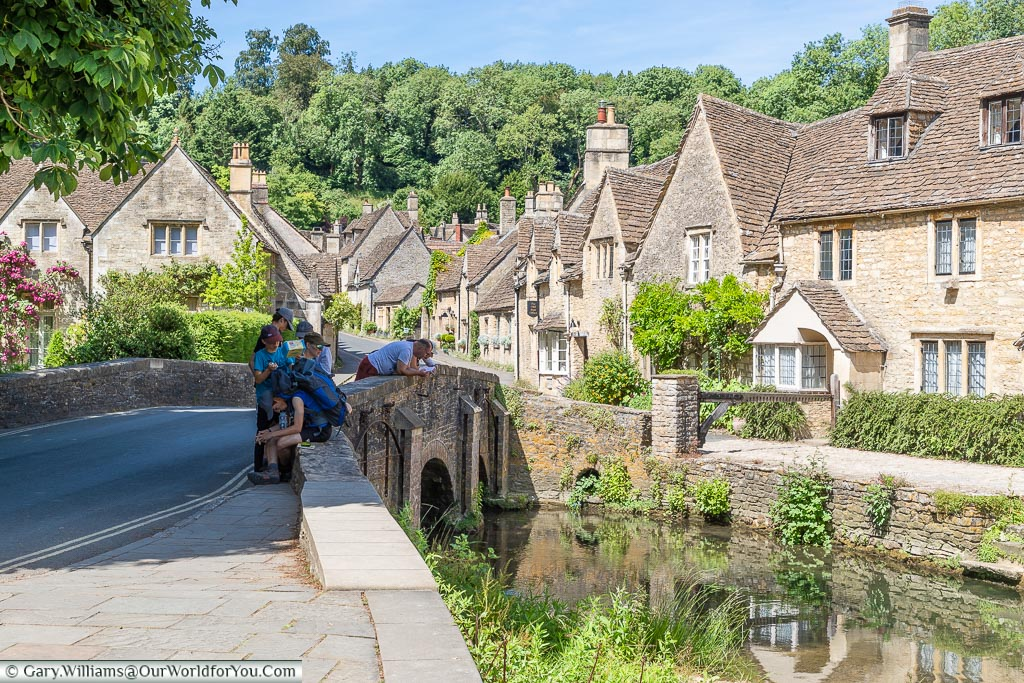 Beside the river, Castle Combe, Wiltshire, England, UK
