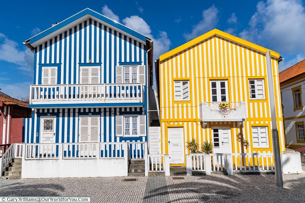 Bright stripes of Costa Nova, Portugal