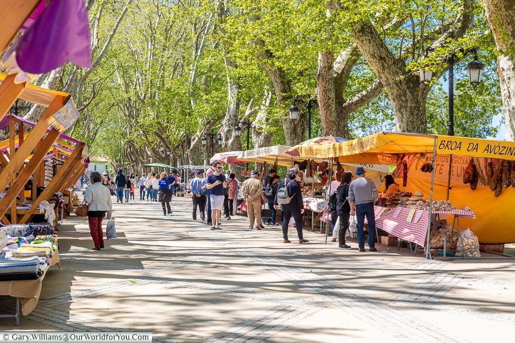 Market day in Ponte de Lima, Portugal