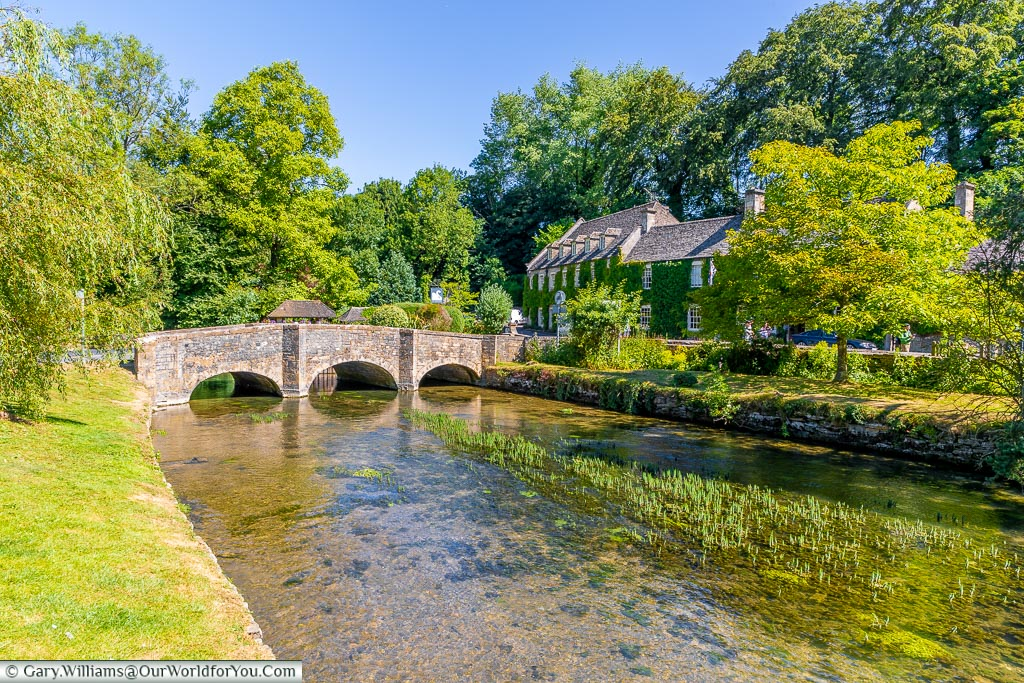 On the banks of the river, Bibury, Gloucestershire, England, UK