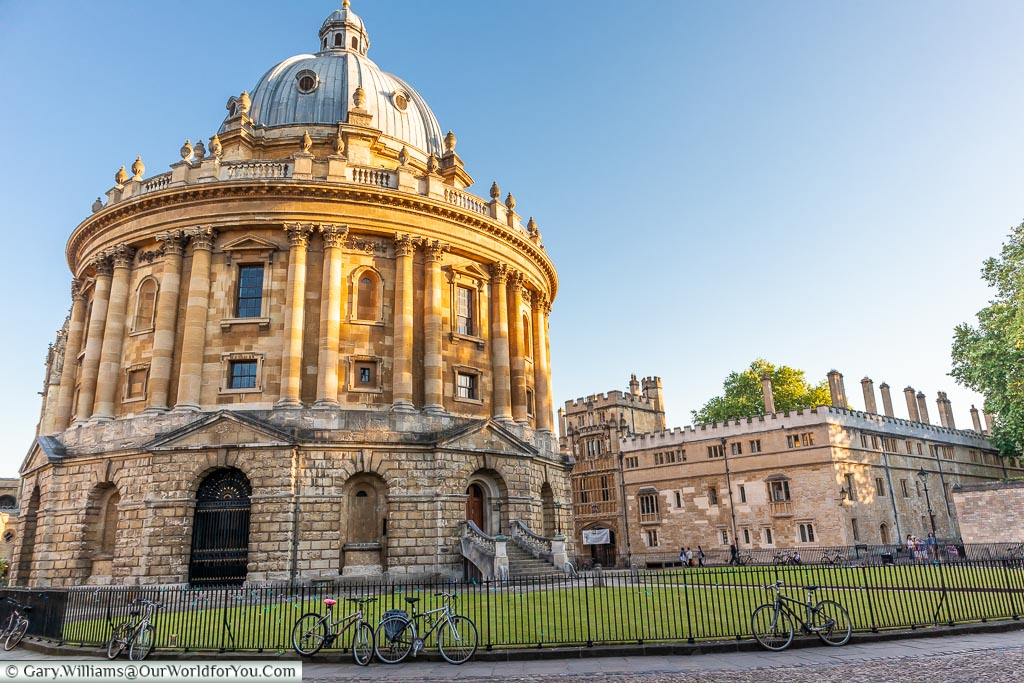 Radcliffe Camera in the evening, Oxford, England, UK