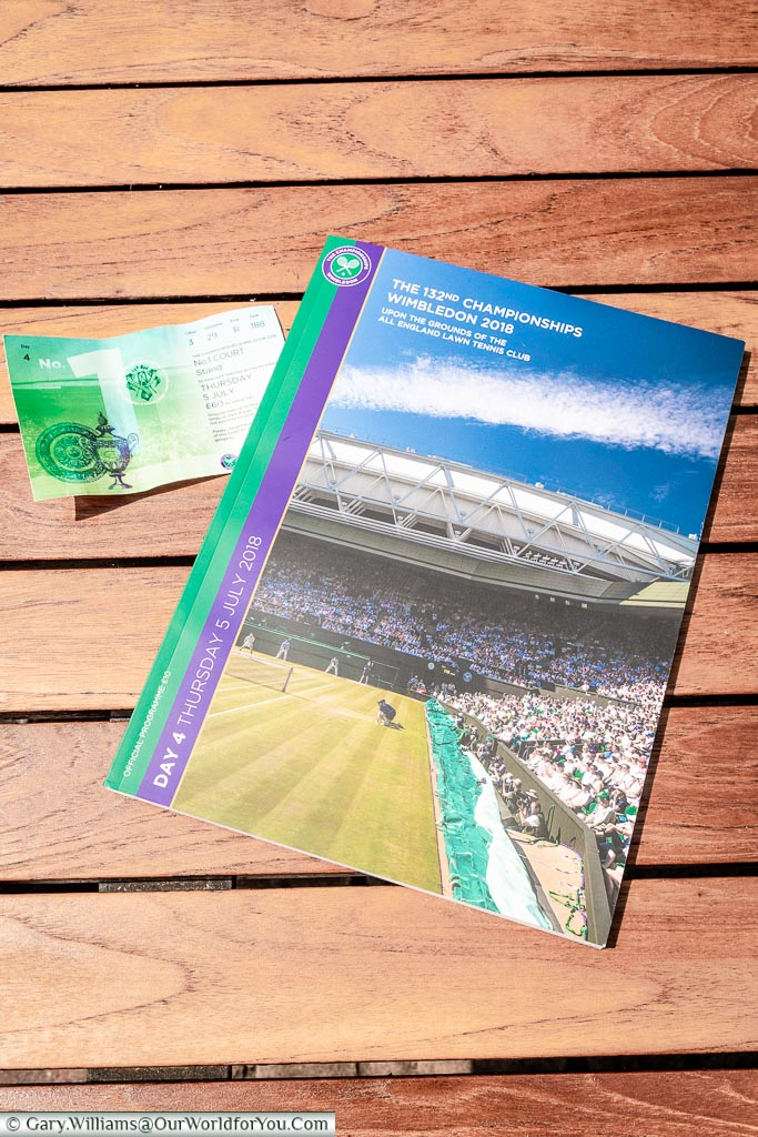 The programme and ticket, Wimbledon, Tennis Champoinship, England, UK