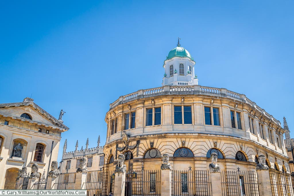 The stunning Sheldonian Theatre in the heart of Oxford