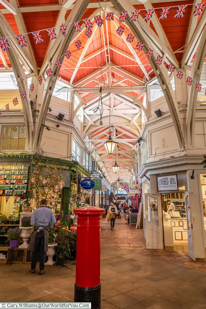 The centre of the Covered Market, Oxford, England, UK