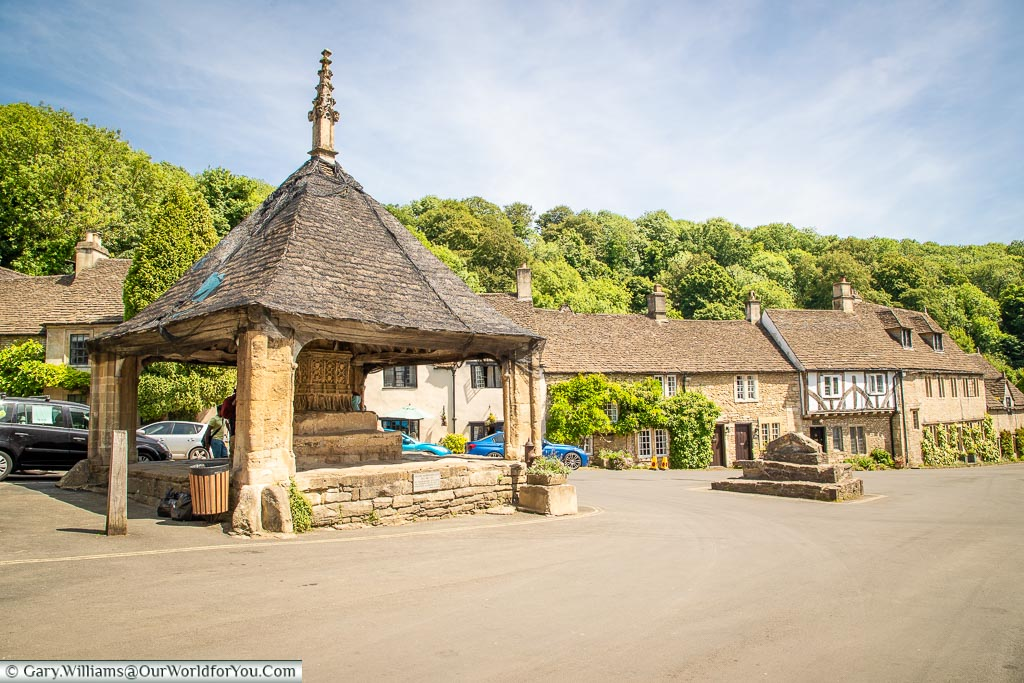 The centre of the village, Castle Combe, Wiltshire, England, UK