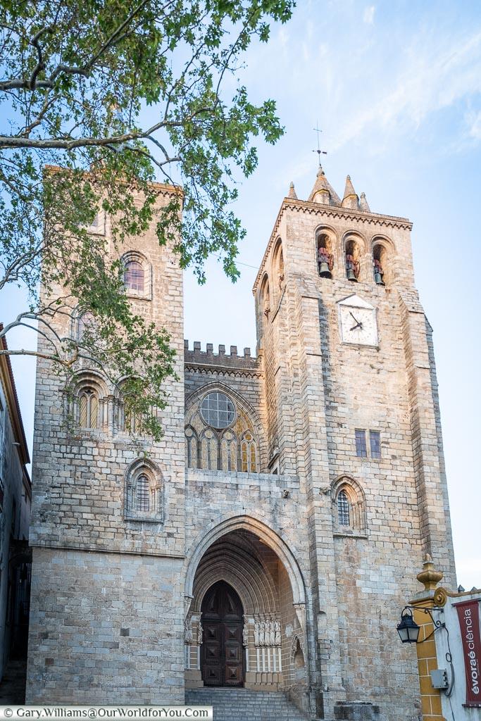 The entrance to Évora Cathedral, Évora, Portugal