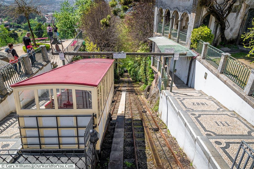 The funicular railway, Bom Jesus do Monte, Portugal