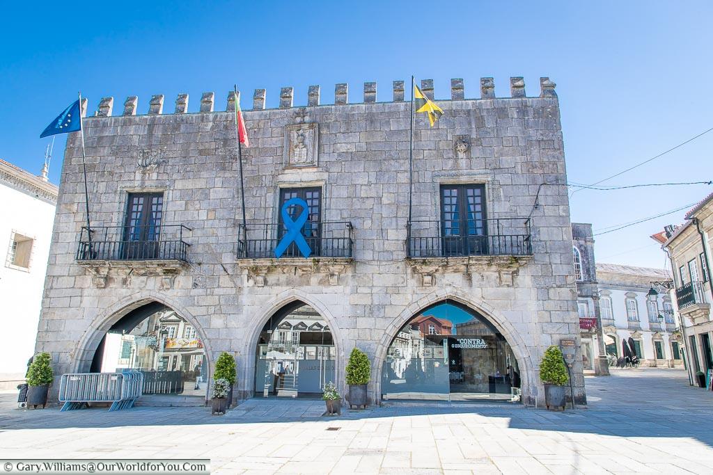 The old town hall in the Praca da Republica, Viana do Castelo, Portugal