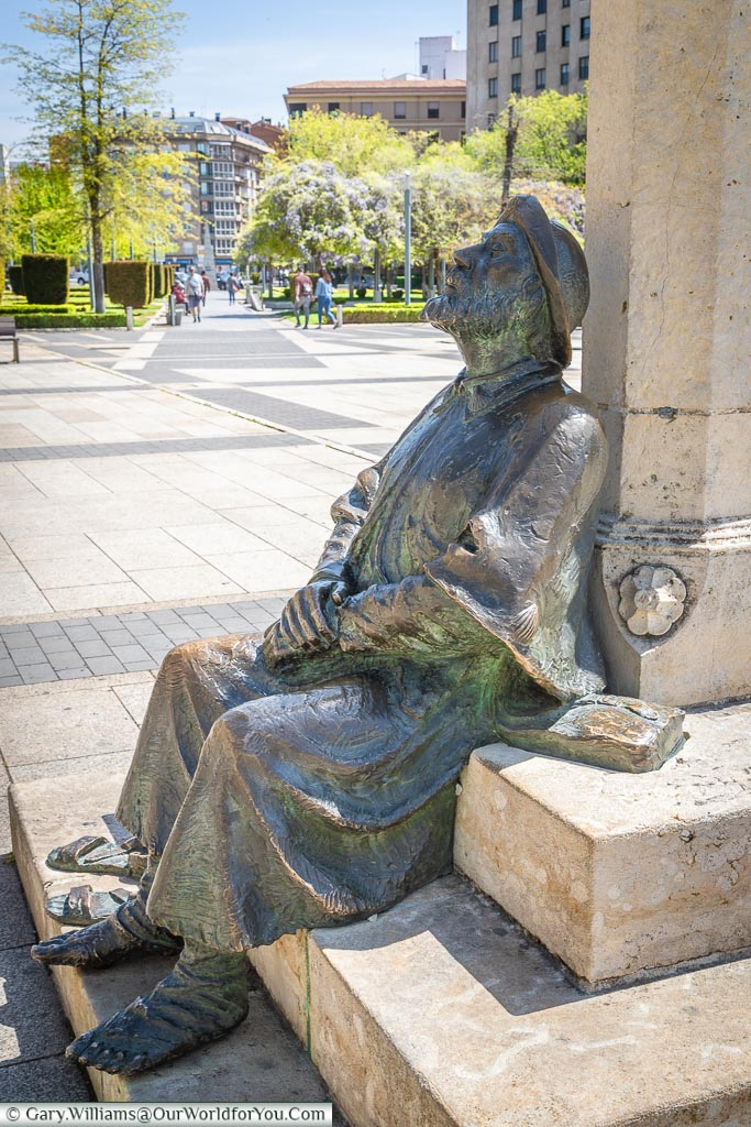 The resting pilgrim, León, Spain