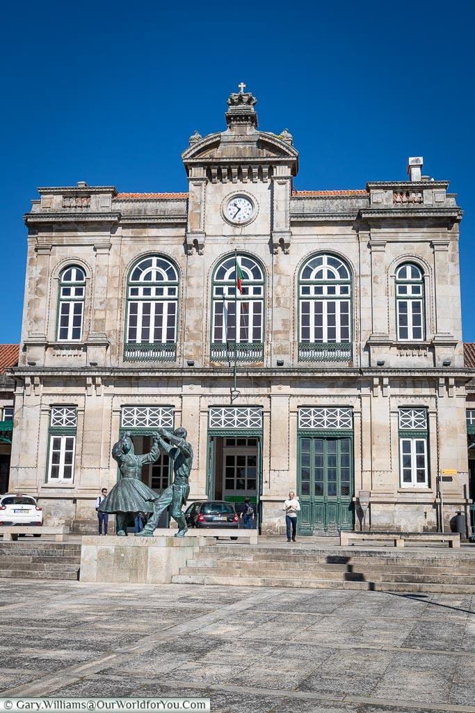 The train station at Viana do Castelo, Portugal
