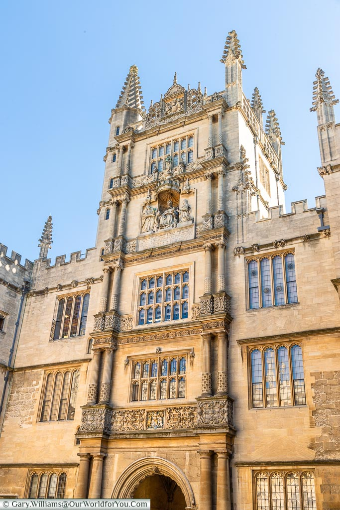 Tower of the Five Orders, Bodleian Library, Oxford, England, UK
