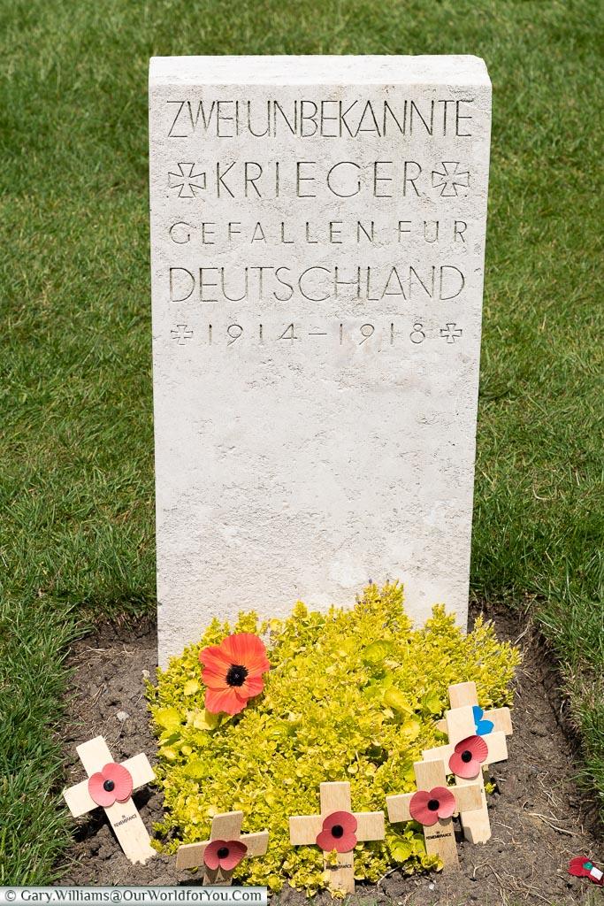 A German grave, Tyne Cot, Passchendaele, Belgium