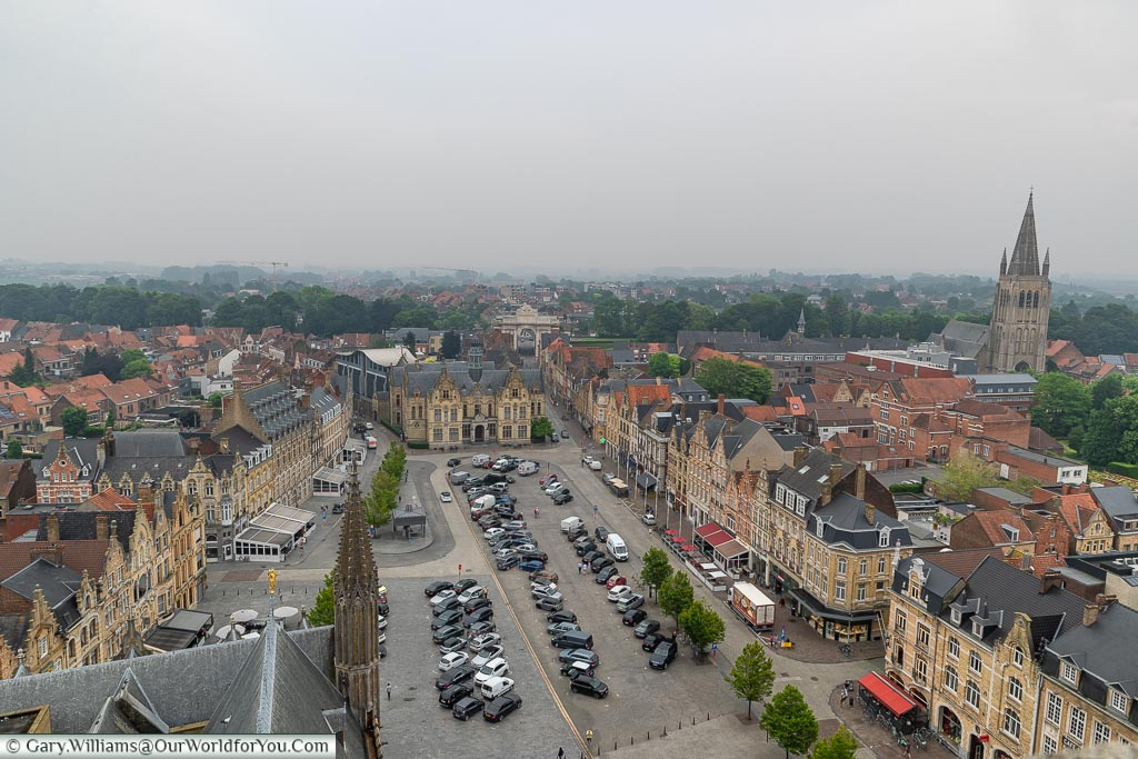 A View across Grote Markt, Ypres, leper, Belgium