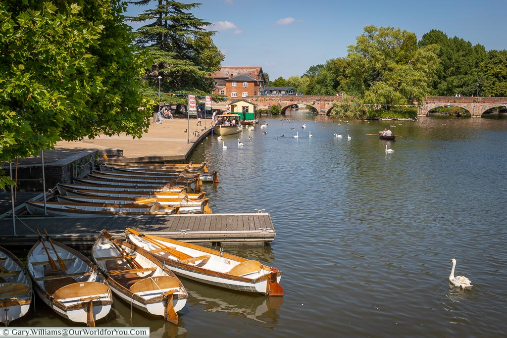 A beautiful scene, Stratford-upon-Avon, Warwickshire, England, UK