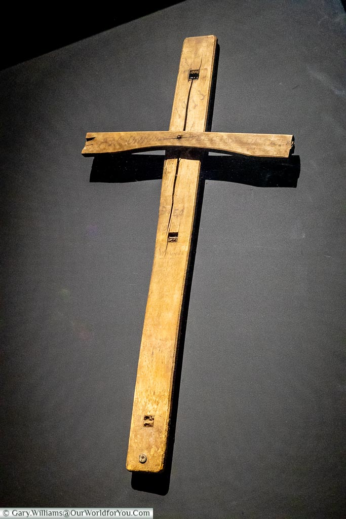 A cross from a wooden chair, Ypres, leper, Belgium