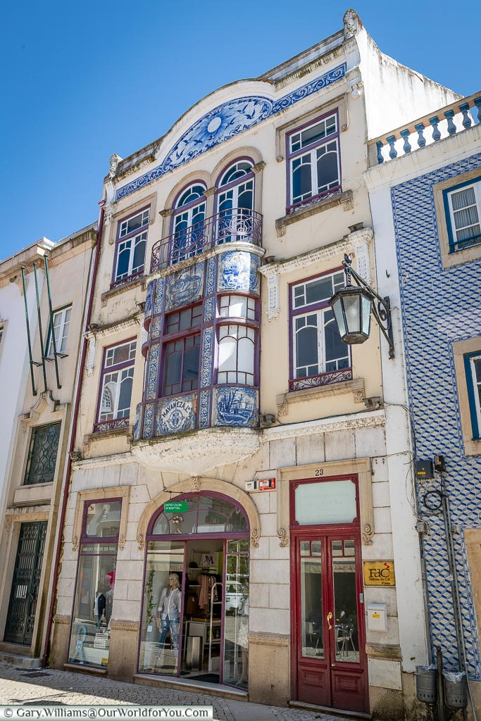 Attractive shop fronts, Tomar, Portugal