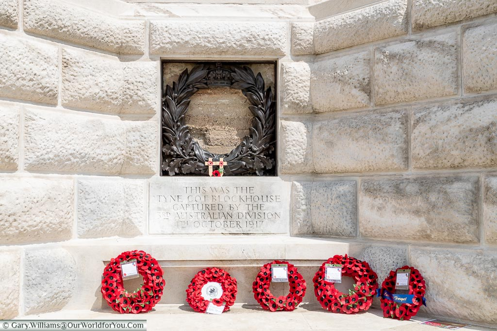 Blockhouse below Cross of Sacrifice, Tyne Cot, Passchendaele, Belgium