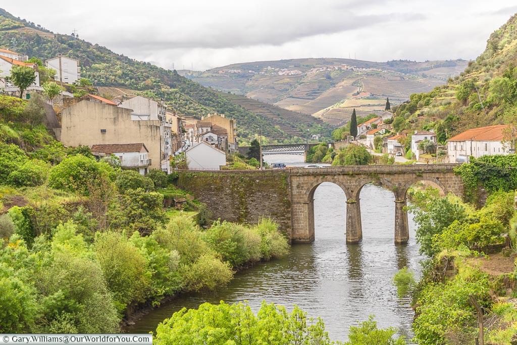 Coming into Pinhão, Douro Valley, Portugal