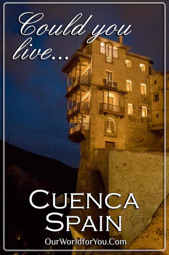 Casas Colgadas at night, Cuenca, Spain