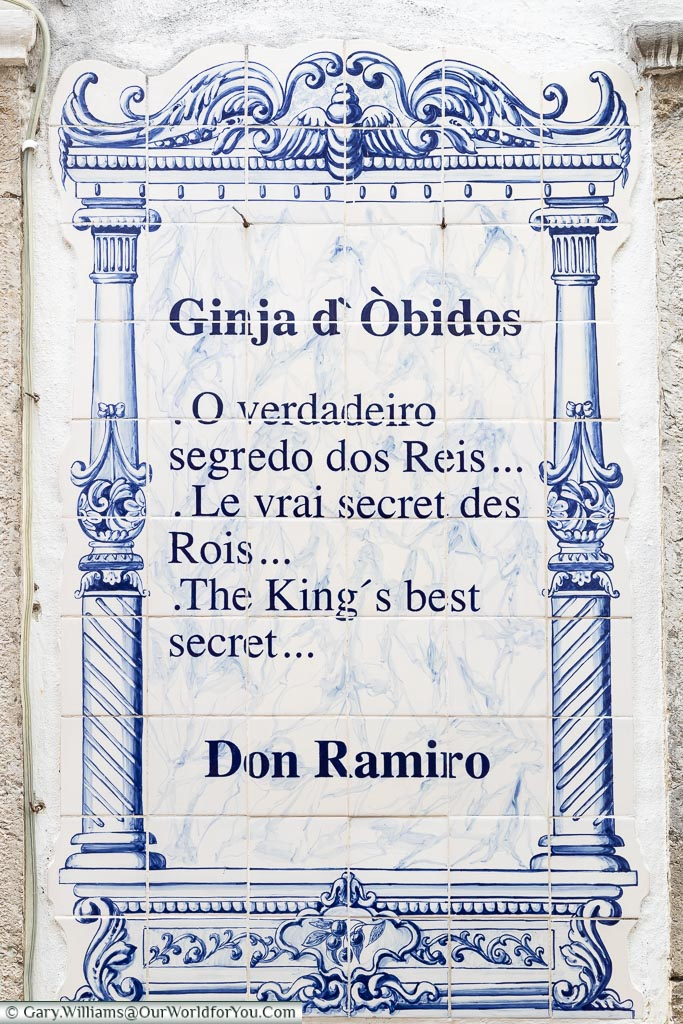 Ginja - The secret, Óbidos, Portugal