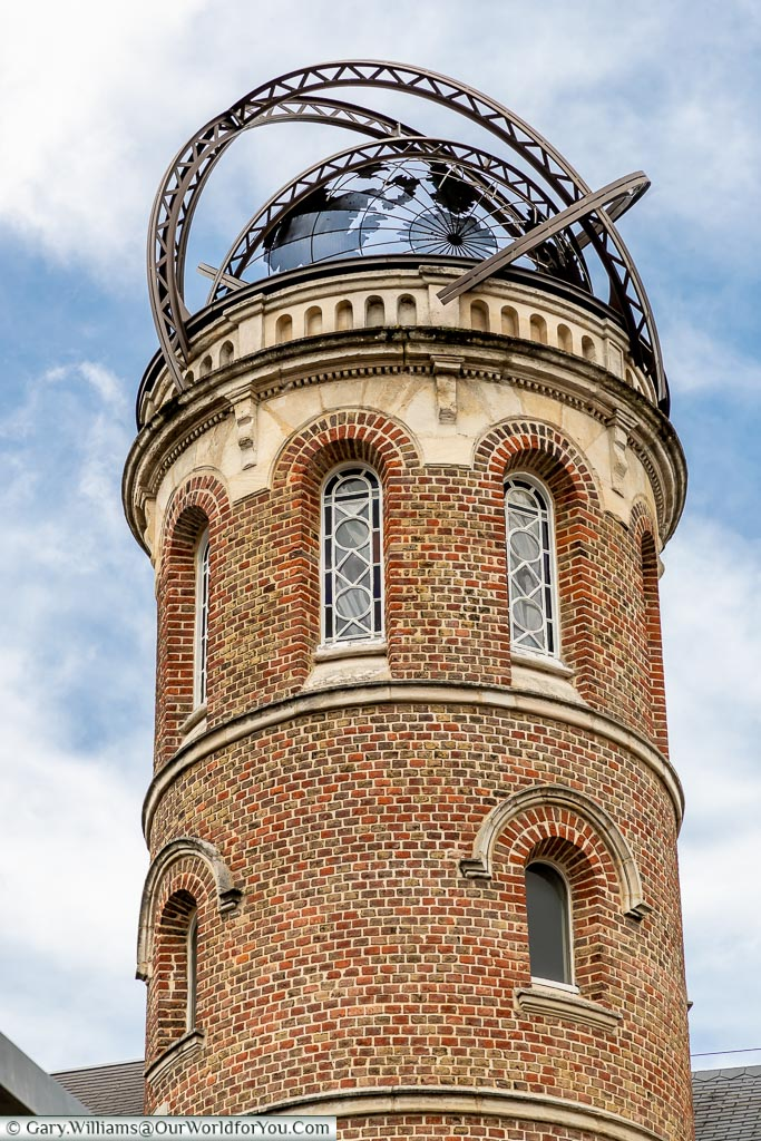 Globe tower on the museum, Amiens, France