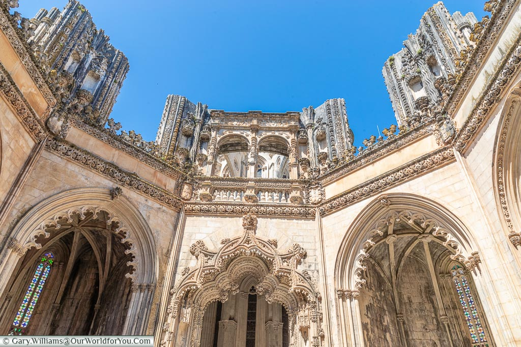 Inside the Unfinished Chapels, Monastery of Batalha, Portugal
