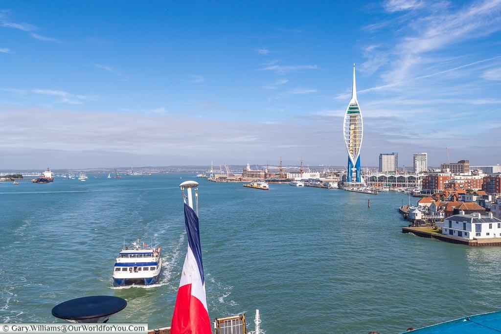 Leaving Portsmouth heading for Bilbao, Spain