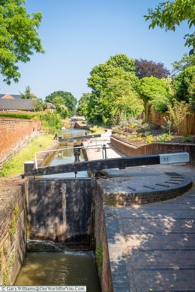 The Canal Locks, Stratford-upon-Avon, Warwickshire, England, UK