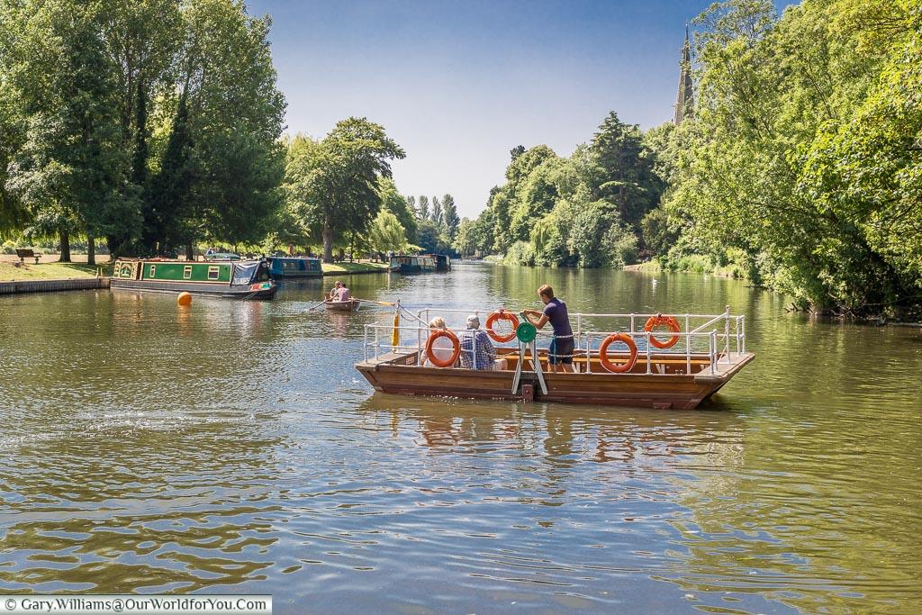 The Chain Ferry, Stratford-upon-Avon, Warwickshire, England, UK