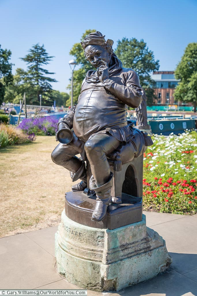 The Flastaff statue, Stratford-upon-Avon, Warwickshire, England, UK