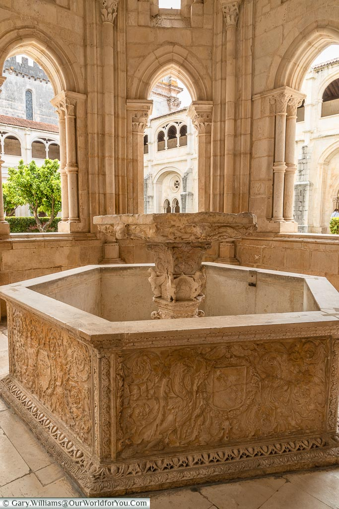 The Fountain, Monastery of Alcobaça, Portugal
