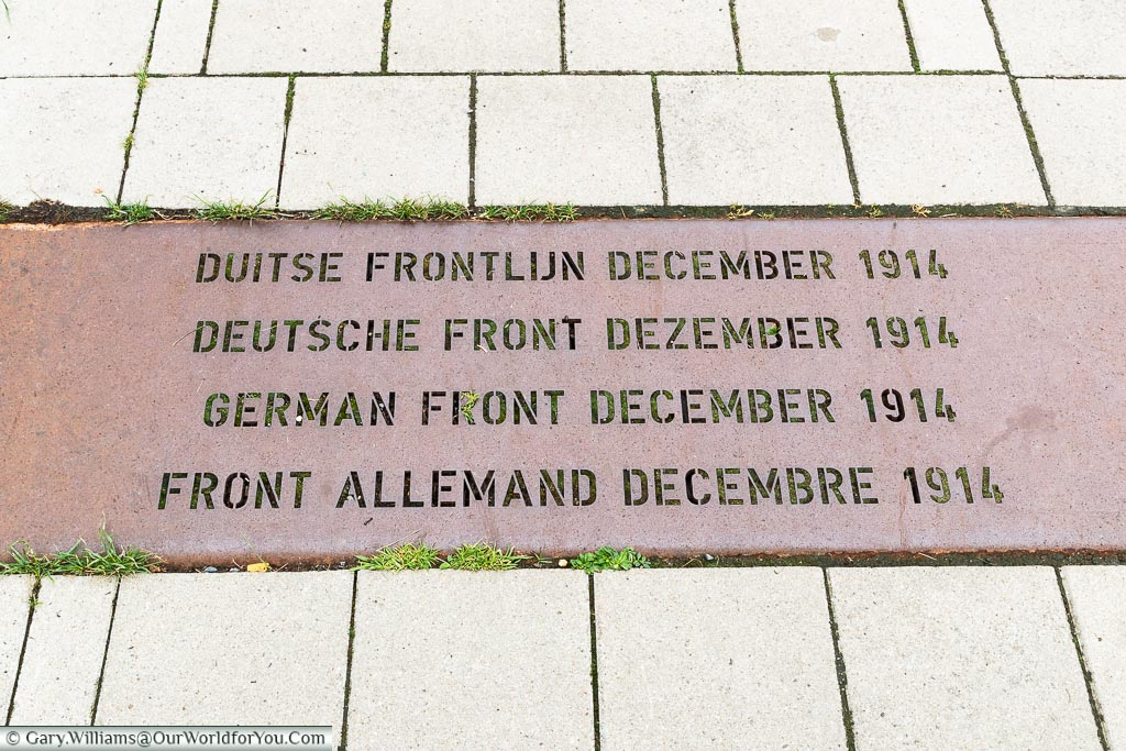 The German frontline, Belgium